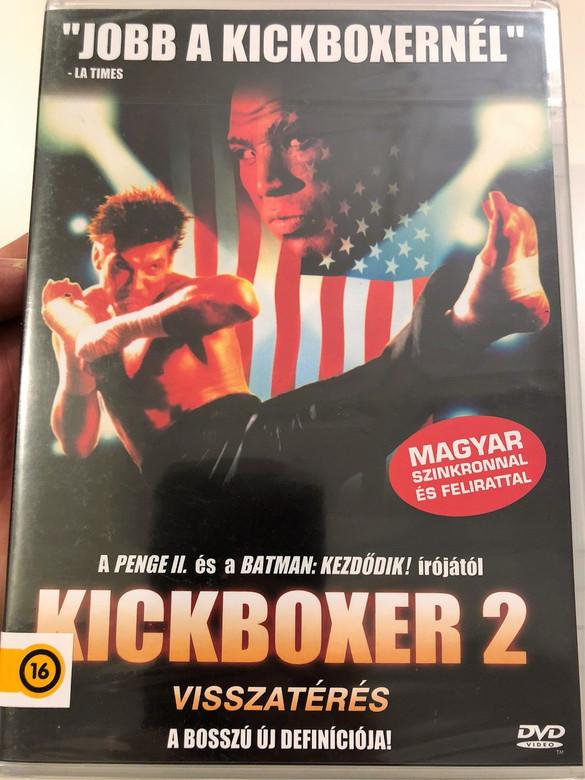 Kickboxer 2: The road back DVD 1991 Kickboxer 2: Visszatérés / Directed by Albert Pyun / Starring: Sasha Mitchell, Peter Boyle, Dennis Chan, Cary-Hiroyuki Tagawa, John Diehl, Michel Qissi (5999553601626)