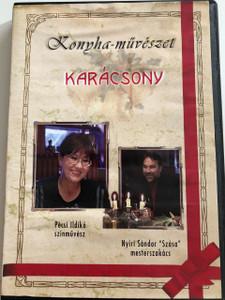 """Konyha-művészet: Karácsony DVD 2005 Kitchen-Art: Christmas / Pécsi Ildikó színművész, Nyíri Sándor """"Szása"""" Mesterszakács / Cooking for Christmas (5998175162393)"""