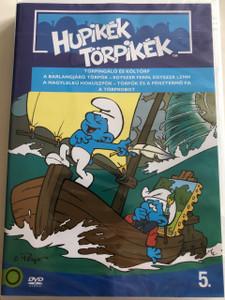 The Smurfs 1990 DVD 5. Hupikék Törpikék / Directed by José Dutillieu, George Gordon / Törpingáló és költörp, A Barlangjáró Törpök, A Nagylelkű hókuszpók, A törprobot / Hanna-Barbera / 6 episodes on disc