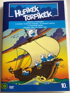 The Smurfs 1990 DVD 10. Hupikék Törpikék / Directed by José Dutillieu, George Gordon / Törpök a tengeren, A komisz trükkök doboza, Alvajáró Törpök, A legkisebb óriás , Minden törp, ha vége törp / Hanna-Barbera / 6 episodes on disc (5996255737318)