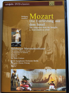 W.A. Mozart: Die Entführung aus dem Serail DVD 2001 The Abduction from the Seraglio / L'Enlévement au sérail / The Salzburg Marionette Theatre / RIAS Berlin Symphony Orchestra / Conductor Ferenc Fricsay / am@do DVD-Classics (4028462020035)