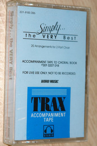 Simply... The VERY Best / 20 Arrangements for 2-Part Choir / Word Music / Audio Cassette - TRAX accompaniment Tape (080688120245)