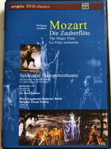 W.A. Mozart: Die Zauberflöte DVD 2001 The Magic Flute / Directed by Georg Wübbolt / Text and Narration by Sir Peter Ustinov / The Salzburg Marionette Theatre / RIAS Berlin Symphony Orchestra / Conducted by Ferenc Fricsay (4028462020028)
