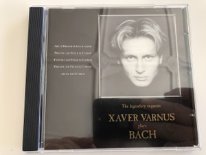 Xaver Varnus The legendary organist plays Bach / Audio CD 1994 / Great Prelude in E Flat Major / Prelude & Fugue in E minor / Fantasia & Fugue in G minor / Air on the G string / Recorded on the Kecskemét Conservatory Organ in Hungary / Aquincum Archive Ltd. / ACD 1438 (ACD-1438Bach)