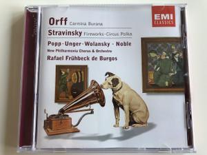 Carl Orff - Carmina Burana / Igor Stravinsky - Fireworks, Op. 4, Circus Polka / Audio CD 2001 / EMI classics (724357458221)