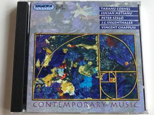 "Kortárs Zene / Contemporary Music / ""Ars Nova"" Ensemble of Cluj / Conducted by Taranu Cornel / Lucian Metianu, Peter Szegő, J. C. Siegenthaler, Vincent Chappuis / Hungaroton Classic / HCD 31875 (5991813187529)"