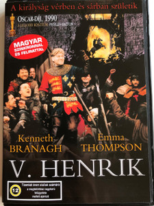 Henry V DVD 1989 V. Henrik / Directed by Kenneth Branagh / Starring: Kenneth Branagh, Paul Scofield, Derek Jacobi, Ian Holm, Emma Thompson / Based on Shakespeare's play (5999881068108)