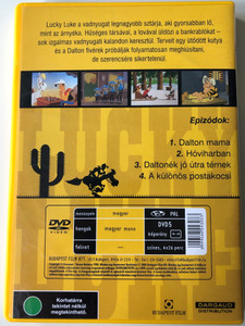 Lucky Luke kalandjai 1 DVD 2001 Lucky Luke (Hungarian only) / Directed by Morris, William Hanna, Joseph Barbera, Juan Ramon Pina, Carlos Alfonso Lopez / Klasszikus Rajzfilmsorozat / 4 episodes on disc (5999544243033)