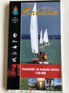Balaton szabadidő és hajózási térkép / 1 : 50.000 / Free-time and sailing map of the Balaton lake region / Hungarian, English and German legend (9789632571294)
