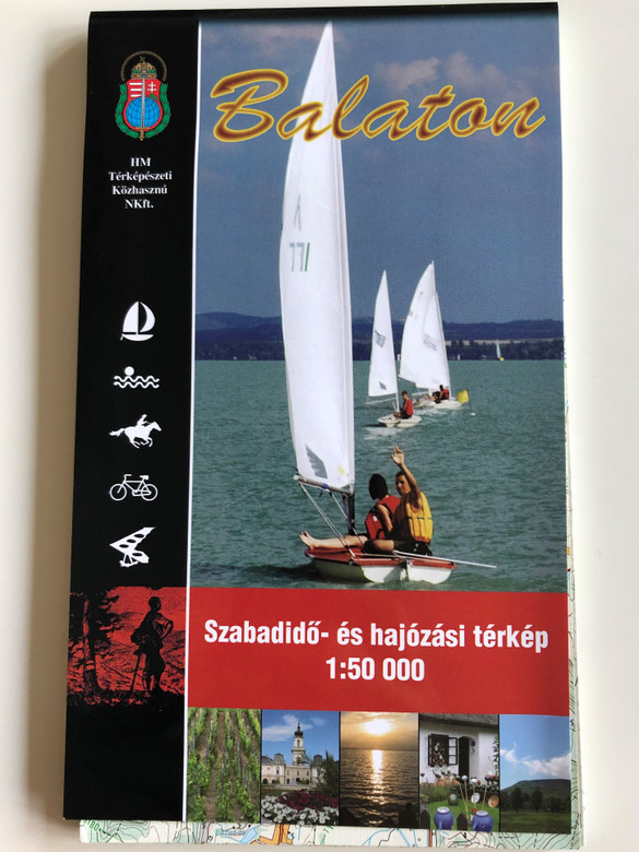 Balaton szabadidő és hajózási térkép / 1 : 50.000 / Free-time and sailing map of the Balaton lake region / Hungarian, English and German legend (9789632571294)