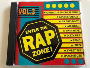 Enter the Rap Zone! Vol. 3 / Audio CD / Twin Hype, Dizzy Dee, Lakim Shabazz, Sir Mix-a-Lot, Sweet Tee, Kings of Swing / BCM records 076-555962 (4001617010129)
