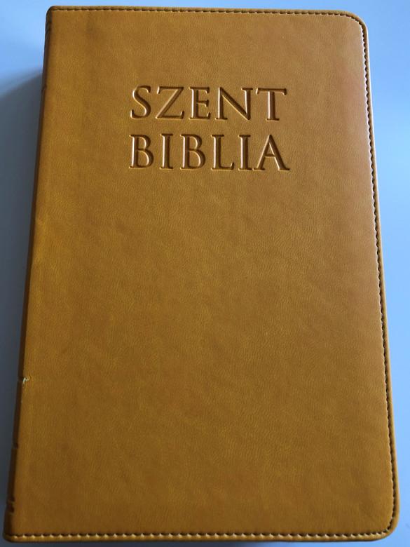Holy Bible / Szent Biblia / Károli Gáspár / Sun Yellow Imitation Leather binding / Napsárga / Golden Edges / Words of Christ in Red / Maps & Timeline / Jézus szavai piros kiemeléssel / Térképek és idővonal (9786155526602
