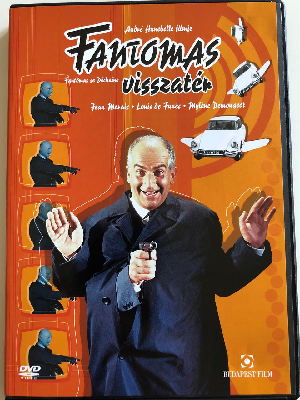 Fantômas se déchaîne (Fantomas Unleashed) DVD 1965 Fantomas visszatér /  Directed by: André Hunebelle, Haroun Tazieff / Starring: Jean Marais, Louis  de Funés, Myléne Demongeot - bibleinmylanguage