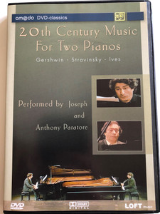 20th Century Music For Two Pianos DVD 2003 / Igor Stravinsky, Charles Ives, George Gershwin / Performed by Anthony And Joseph Paratore / amado DVD-classics (4028462600343)