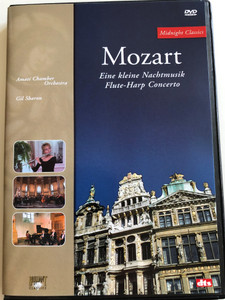 W. A. Mozart - Eine kleine Nachtmusik DVD / Flute-Harp Concerto / Amati Chamber Orchestra / Conducted by Gil Sharon / Lódz Chamber Orchestra / Filmed in 1994 / 1998 (5028421923772)