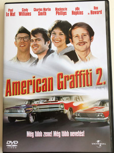 More American Graffiti DVD 1979 American Graffiti 2. / Directed by Bill L. Norton / Starring: Candy Clark, Bo Hopkins, Ron Howard, Paul Le Mat, Mackenzie Phillips, Charles Martin Smith, Cindy Williams / Based on Characters by George Lucas Gloria Katz & Willard Huyck (5996051040964)