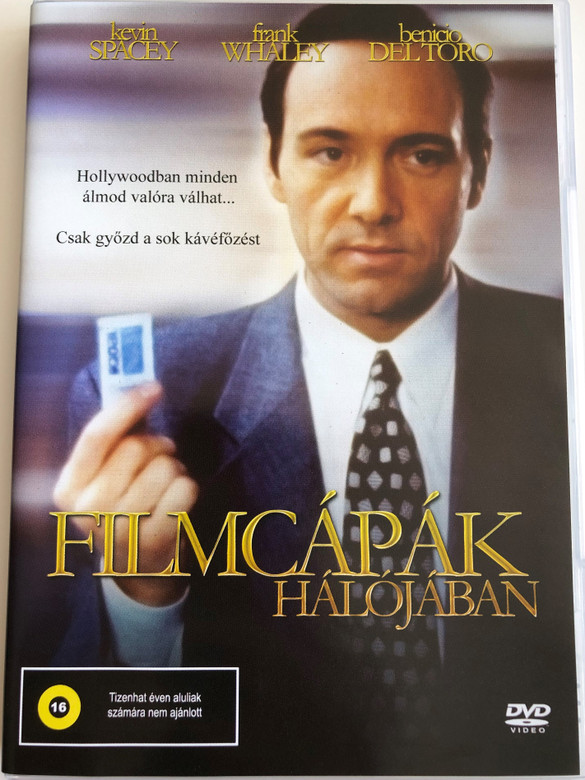 Swimming with Sharks DVD 1994 Filmcápák hálójában / Directed by George Haung / Starring: Kevin Spacey, Frank Whaley, Michelle Forbes, Benicio Del Toro (5999545585415)