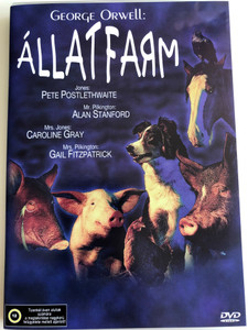 George Orwell's Animal Farm DVD 1999 Állatfarm / Directed by John Stephenson / Starring: Pete Postlethwaite, Alan Stanford, Caroline Gray, Gail Fitzpatrick (5999553601855)