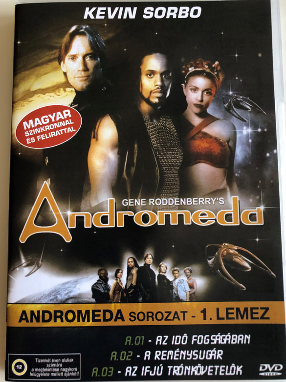 Gene Roddenberry's Andromeda DVD 2000 TV Series / Disc 1. / Written by Gene Roddenberry / Producers: Allan Eastman, Majel Barrett Roddenberry, Jay Firestone / Starring: Kevin Sorbo, Lisa Ryder, Keith Hamilton Cobb,Lexa Doig, Laura Bertram, Gordon Michael Woolvett (5999553600100)