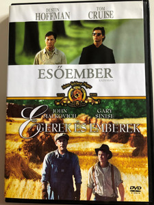 Rain Man DVD 1988 Esőember / Directed by Barry Levinson, Starring: Dustin Hoffman, Tom Cruise / / Of Mice and Men DVD 1992 / Directed by Gary Sinise, Starring: John Malkovich, Gary Sinise / Double DVD (5996255717860)