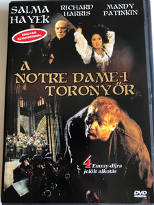 The Hunchback DVD 1997 A Notre Dame-i toronyőr / Directed by Peter Medak / Starring: Mandy Patinkin, Salma Hayek, Richard Harris / 4 Emmy Award Nominations (5999881067675)