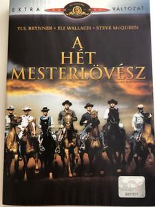 The Magnificent Seven DVD 1960 A Hét Mesterlövész / Directed by John Sturges / Starring Yul Brynner, Eli Wallach, Steve McQueen (5996255711264)