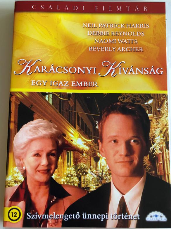 The Christmas Wish DVD 1998 Karácsonyi Kívánság - Egy Igaz Ember / Directed by Ian Barry / Starring: Neil Patrick Harris, Debbie Reynolds, Naomi Watts (5999886089368)
