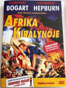 The African Queen DVD 1951 Afrika királynője / Directed by John Huston / Starring: Humphrey Bogart, Katharine Hepburn, Robert Morley, Peter Bull, Theodore Bikel (5999881767643)