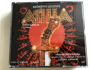 Atilla - Isten kardja by Szörényi Levente / 2x Audio CD 1993 / Directed by Koltay Gábor / Poems by Lezsák Sándor / Hungarian rock opera: Attila the Hun, God's sword / HCD 37710-11 (HCD37710-11)