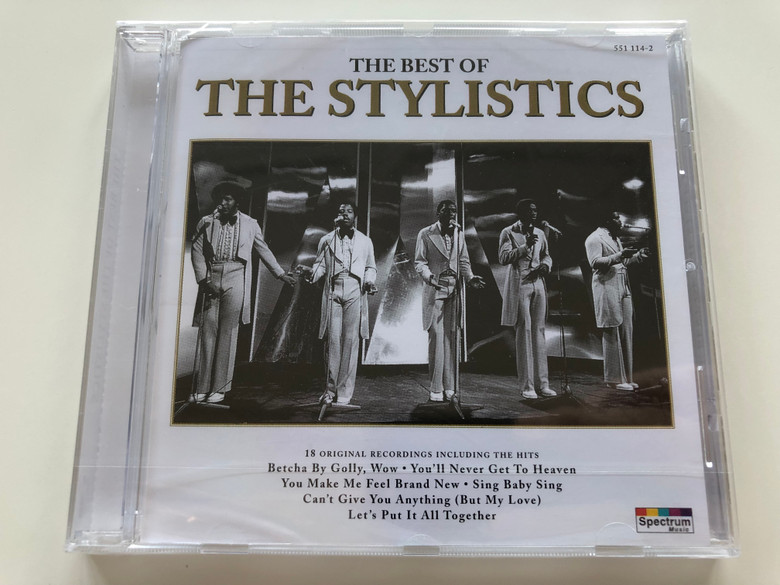 """The best of THE STYLISTICS / AUDIO CD 1996 / US soul group: Airrion Love, Herbie Murrell, Van Fields and Harold """"Eban"""" Brown (731455111422)"""