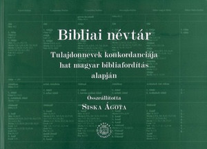 Bibliai névtár by Siska Ágota - Biblical Name Register – Proper Names Based On Concordance Of The Hungarian Bible Translation (9789635581689)