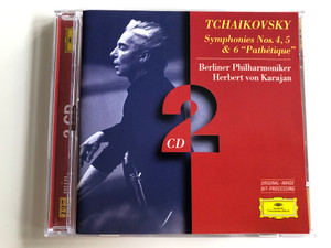 "Tchaikovsky Symphonies 4, 5 & 6 ""Pathétique"" / Berliner Philharmoniker / Conducted by Herber von Karajan / 2 CD Audio set / PY925 (028945308821)"