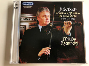 J. S. Bach - Sonatas & Partitas for Solo Violin BWV 1001-1006 / Miklós Szenthelyi Violin / Audio CD 2002 / Hungaroton Classic 2 CD set / HCD 32071-71 (5991813207128)