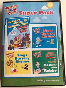 Mother Goose Club Super Pack DVD 2013 Nursery Rhyme Singing Time DVD + 3 CD set / Sockeye Media / Episodes & Songs (884501918763)