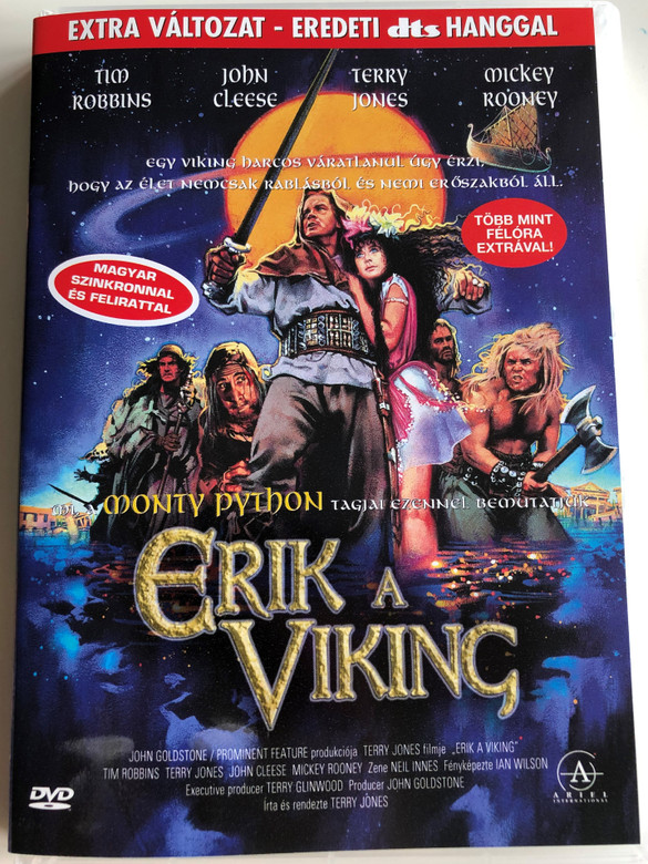 Erik the Viking DVD 1989 Erik a Viking / Directed by Terry Jones / Starring: Tim Robbins, Terry Jones, Eartha Kitt, Mickey Rooney, Tsutomu Sekine, John Cleese, Antony Sher, Imogen Stubbs (5999881068061)