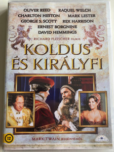 The Prince and the Pauper (Crossed Swords) DVD 1977 Koldus és Királyfi / Directed by Richard Fleischer / Starring: Mark Lester, Ernest Borgnine, Oliver Reed, Raquel Welch, Rex Harrison / Based on Mark Twain's work (5999885039623)