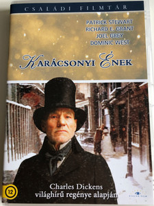 A Christmas Carol DVD 1999 Karácsonyi Ének / Directed by David Hugh Jones / Starring: Patrick Stewart, Richard E. Grant, Joel Grey, Dominic West, Laura Fraser / Based on Charles Dickens' novel (5999886089351)
