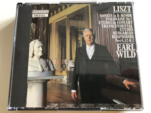 Liszt - Sonata in B Minor, Polonaise No. 2, Etudes de Concert, Transcendental Etudes, Hungarian Rhapsodies Nos 4, 12 & 2 / Performed by Earl Wild, piano / Produced by Michael Rolland Davis / Etcetera / KTC 2010 / 2 CD