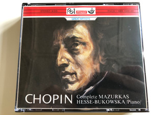 Chopin Complete Mazurkas / Barbara Hessse-Bukowska piano / Pol Music / Great Artists / PmCD 1-1989-1020/21 / Audio CD 1990 / 2 discs (PmCD 1-1989-1020/21)