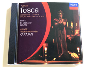 Puccini - Tosca / Highlights / Leontyne Price, Giuseppe Di Stefano, Giuseppe Taddei / Vienna Philharmonic Orcherstra / Conducted by Herbert von Karajan / Audio CD / Decca / 452728-2 (028945272825)