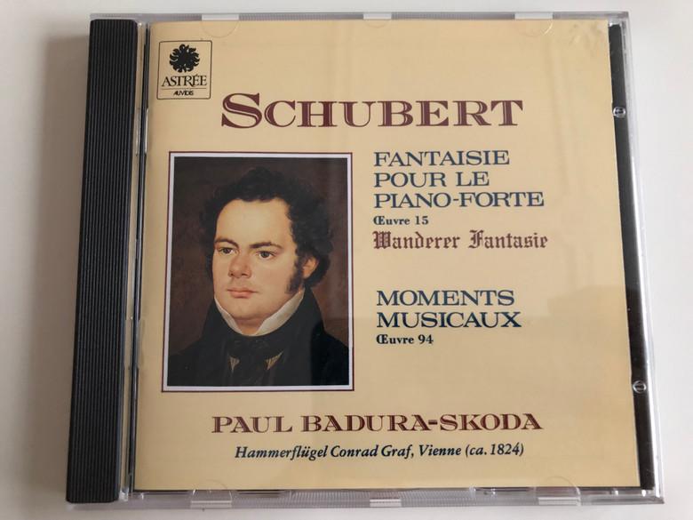 Franz Schubert - Fantaisie pour le Piano-Forte / Euvre 15 Wanderer Fantasie / Moments Musicaux Euvre 94 / Paul Badura-Skoda Hammerflügel Conrad Graf Vienna ca. 1824 / Audio CD / E7763 Auvidis (3298490077634)