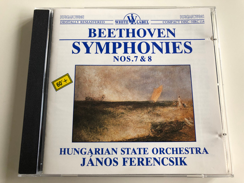 Beethoven Symphonies Nos. 7 & 8 / Audio CD 1998 / Hungarian State Orchestra / Conducted by János Ferencsik / Hungaroton White Label / HRC 114 (HRC-114)