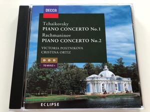 Tchaikovsky - Piano Concerto No.1 / Rachmaninov - Piano Concerto No.2 / Victoria Postnikova, Cristina Ortiz / DDD 70 mins / AUDIO CD 1995 / Directed By – Gennadi Rozhdestvensky, Moshe Atzmon (028944822120