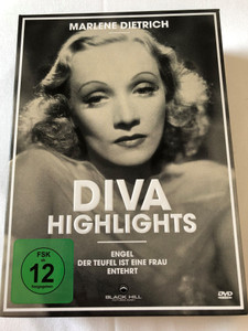 Marlene Dietrich - Diva Highlights / DVD Set / 3 Highlights - Black&White Classics with Marlene Dietrich the Film Diva / Angel, The Devil is a Woman, Dishonored / Digital Remastered / 3 discs (4020628950651)