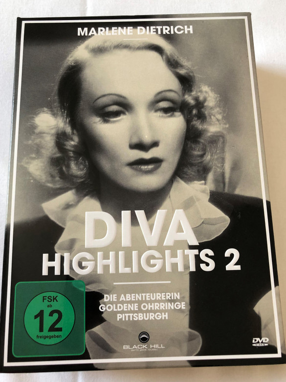 Marlene Dietrich - Diva Highlights 2 / DVD Set / 3 Highlights - Black&White Classics with Marlene Dietrich the Film Diva / The Flame of New Orleans, Golden Earring, Pittsburgh / Digital Remastered / 3 discs (4020628943240)