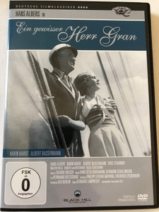 Ein gewisser Herr Gran DVD 1933 A Certain Mr. Gran / Directed by Gerhard Lamprecht / Starring: Hans Albers, Karin Hardt, Albert Bassermann / Digitally Remastered / Deutscher Filmklassiker (4020628961312)