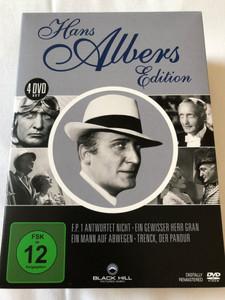 Hans Albers Edition / 4 DVD SET / F.P Antwortet Nicht - Ein Gewisser Herr Gran - Ein Mann Auf Abwegen - Trenck, der Pandur / Digitally Remastered / Deutsche Filmklassiker (4020628976187)
