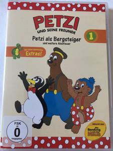 Petzi und Seine Freunde 1. DVD 2004 Petzi and his friends / Petzi als Bergsteiger und weitere Abenteuer / 9 episodes on disc (5050467287723)
