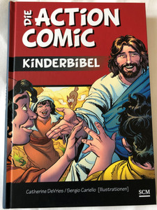 Die Action Comic Kinderbibel by Catherine DeVries, Sergio Cariello (Illustrations) / German translation of The Action Storybook Bible / More than 350 color illustrations / Ages 5 and up / Hardcover (9783417288391)
