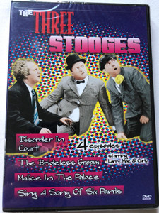 The Three Stooges - 4 episodes DVD 2003 / Disorder in Court, The Brideless Groom, Malice in the Palace, Singa a Song of Six Pants / Starring Larry Fine, Moe Howard, Curly Howard, Shemp Howard (096009006235)